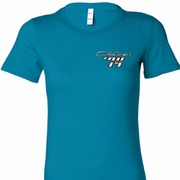 Dodge Challenger 1974 Pocket Print Ladies Shirts
