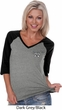 Dodge Challenger 1974 Pocket Print Ladies Three Quarter V-Neck Raglan