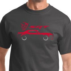 Dodge Challenger SRT Silhouette Mens Shirts