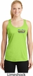 Dodge Dart Pocket Print Ladies Moisture Wicking Racerback Tank Top