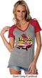 Dodge Demon Ladies Contrast V-neck