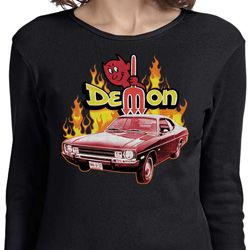 Dodge Demon Ladies Long Sleeve Shirt