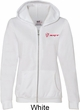 Dodge Demon SRT Logo Pocket Print Ladies Full Zip Hoodie