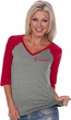Dodge Demon SRT Logo Pocket Print Ladies V-neck Raglan