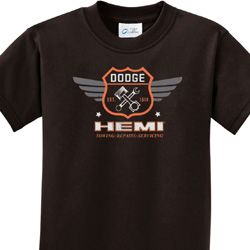 Dodge Garage Hemi Kids Shirts
