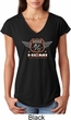 Dodge Garage Hemi Ladies Tri Blend V-Neck Shirt