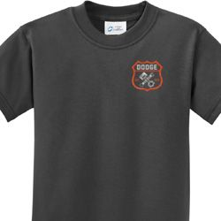 Dodge Garage Pocket Print Kids Shirts