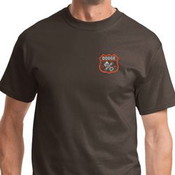 Dodge Garage Pocket Print Mens Shirts