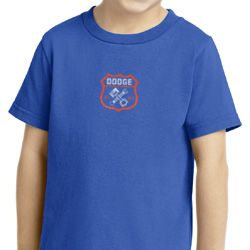 Dodge Garage Small Print Kids Shirts