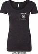 Dodge Guts and Glory Ram Logo Pocket Print Ladies Scoop Neck Shirt