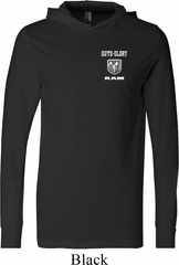 Dodge Guts and Glory Ram Logo Pocket Print Lightweight Hoodie Tee