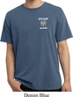 Dodge Guts and Glory Ram Logo Pocket Print Pigment Dyed Shirt