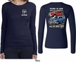 Dodge Guts Glory Ram Trucks (Front & Back) Ladies Long Sleeve