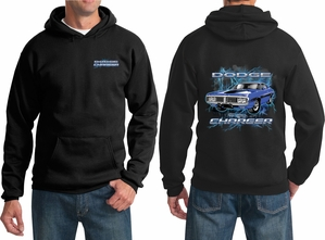 Dodge Hoodie Blue Charger (Front & Back) Hoody
