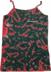 Dodge Logo Pocket Print Ladies Tie Dye Camisole Tank Top