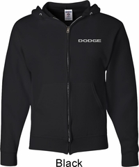 Dodge Logo Pocket Print Mens Full Zip Hoodie