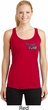 Dodge Plymouth Cuda Pocket Print Ladies Dry Wicking Racerback Tank Top