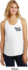 Dodge Plymouth Cuda Pocket Print Ladies Racerback Tank Top