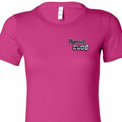 Dodge Plymouth Cuda Pocket Print Ladies Shirts