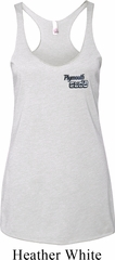 Dodge Plymouth Cuda Pocket Print Ladies Tri Blend Racerback Tank Top
