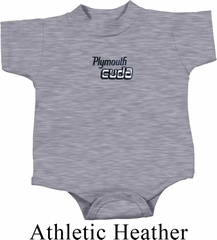 Dodge Plymouth Cuda Small Print Baby Onesie