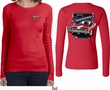 Dodge Plymouth Roadrunner (Front & Back) Ladies Long Sleeve