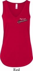 Dodge Plymouth Roadrunner Pocket Print Ladies Flowy V-neck Tank Top