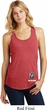Dodge Ram Logo Bottom Print Ladies Racerback Tank Top