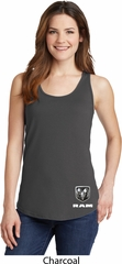 Dodge Ram Logo Bottom Print Ladies Tank Top