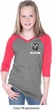 Dodge Ram Logo Pocket Print Girls Three Quarter Sleeve V-Neck Shirt
