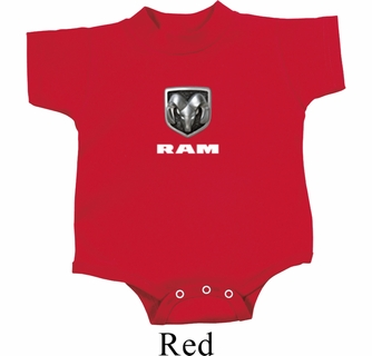 Kid/'s Red Dodge Ram Middle Print Onesie 21539E2-MP-4438