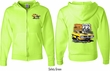 Dodge Route 66 Charger RT (Front & Back) Full Zip Hoodie