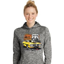 Dodge Route 66 Charger RT Ladies Moisture Wicking Hoodie