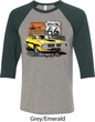 Dodge Route 66 Charger RT Mens Raglan Shirt