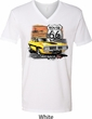 Dodge Route 66 Charger RT Mens V-Neck Shirt