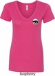 Dodge Scat Pack Logo Pocket Print Ladies V-Neck Shirt