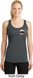 Dodge Scat Pack Pocket Print Ladies Dry Wicking Racerback Tank Top
