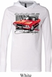 Dodge Shirt Red Challenger White Lightweight Hoodie Tee