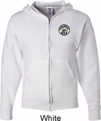 Dodge Super Bee Circle Logo Pocket Print Mens Full Zip Hoodie