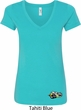 Dodge Super Bee Logo Bottom Print Ladies V-Neck Shirt