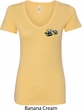 Dodge Super Bee Logo Pocket Print Ladies V-Neck Shirt