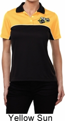 Dodge Super Bee Logo Pocket Print Ladies Yellow Gold Polo Shirt