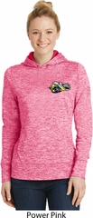 Dodge Super Bee Pocket Print Ladies Power Pink Moisture Wicking Hoodie