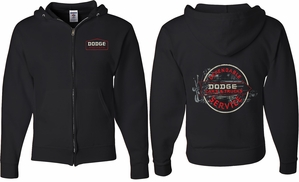 Dodge Vintage Dodge Sign (Front & Back) Full Zip Hoodie