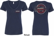 Dodge Vintage Dodge Sign (Front & Back) Ladies V-neck