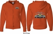 Dodge Yellow Plymouth Roadrunner (Front & Back) Full Zip Hoodie