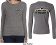 Dodge Yellow Plymouth Roadrunner (Front & Back) Ladies Long Sleeve