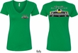 Dodge Yellow Plymouth Roadrunner (Front & Back) Ladies V-neck