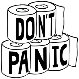 Don't Panic Toilet Paper Shirts
