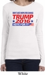 Donald Trump Shirt Vote For It Ladies Long Sleeve